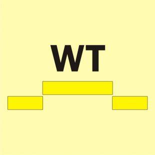 Drzwi przeciwpożarowe wodoszczelne przesuwne - kategoria B - znak morski - FI020