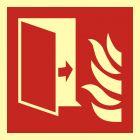 Drzwi przeciwpożarowe - znak przeciwpożarowy ppoż - BAF007