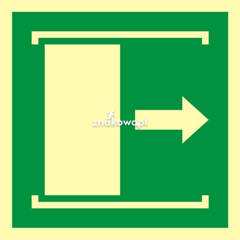 Drzwi przesuwane w celu otwarcia - Placówki służby zdrowia – oznaczenia