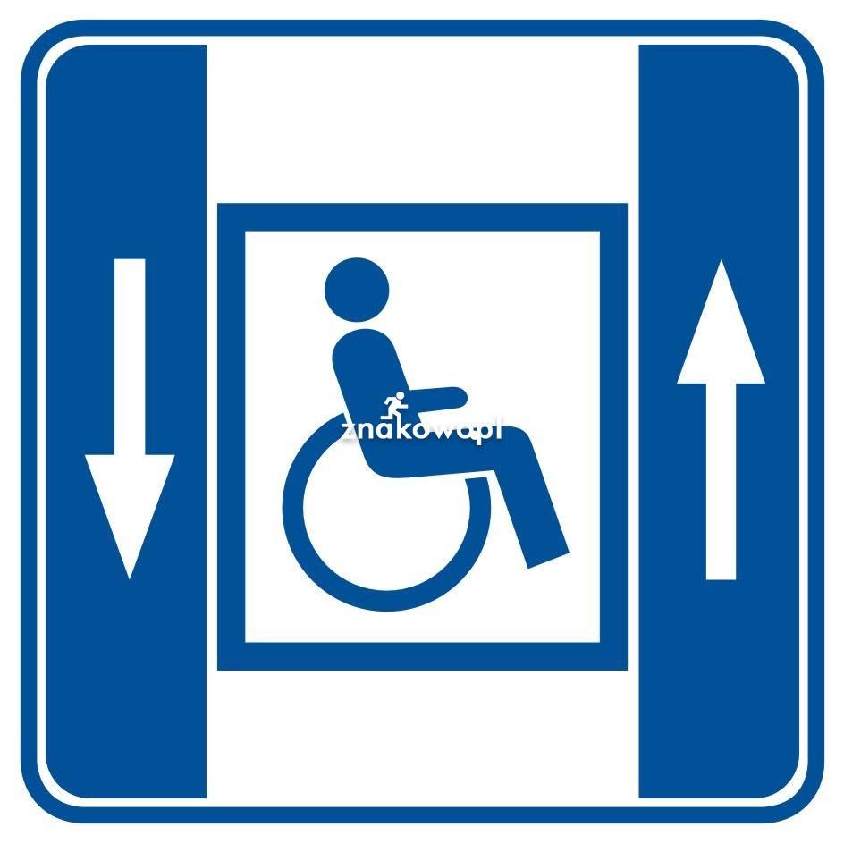 Dźwig dla niepełnosprawnych - Placówki służby zdrowia – oznaczenia