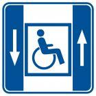 Dźwig dla niepełnosprawnych - znak informacyjny - RA044