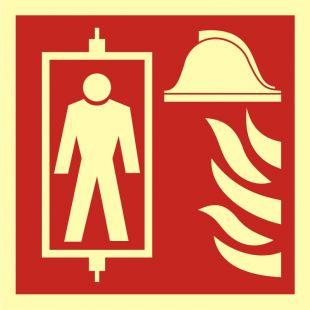 Dźwig dla straży pożarnej - znak przeciwpożarowy ppoż - BB022