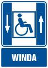 Dźwig osobowy dla niepełnosprawnych - znak informacyjny - RB005