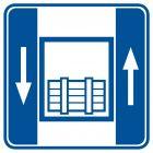 Dźwig  towarowy - znak informacyjny - RA045