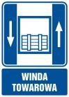 Dźwig towarowy - znak informacyjny - RB006