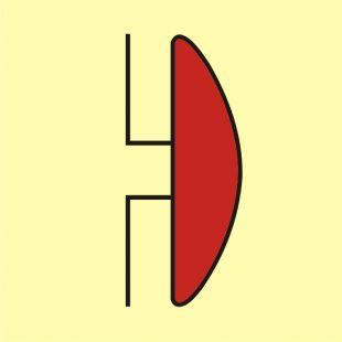Dzwonek alarmu pożarowego - znak morski - FA003