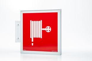 EC009 - Ramka semaforowa dwustronna 15x15 - do znaków ewakuacyjnych