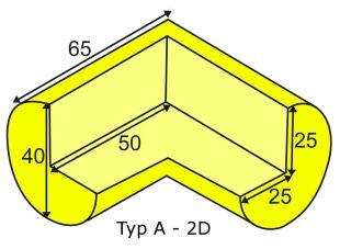 Elastyczny łącznik narożny 2D do profili typu A