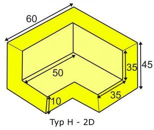 Elastyczny łącznik narożny 2D do profili typu H