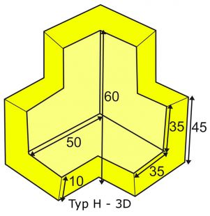Elastyczny łącznik narożny 3D do profili typu H