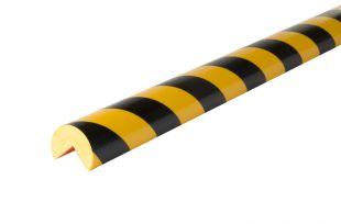 Elastyczny profil ochronny czarno - żółty typu A+
