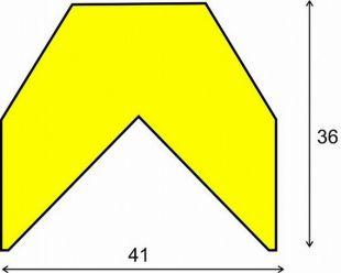 Elastyczny profil ochronny czarno - żółty typu AA
