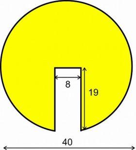Elastyczny profil ochronny czarno - żółty typu B