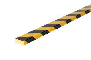 Elastyczny profil ochronny czarno - żółty typu D