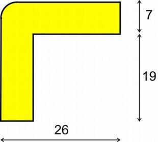 Elastyczny profil ochronny czarno - żółty typu E