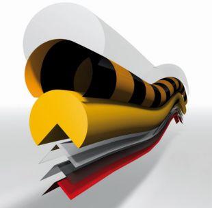 Elastyczny profil ochronny czarno - żółty typu F