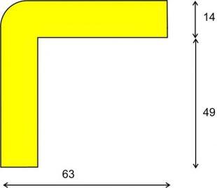 Elastyczny profil ochronny czarno - żółty typu H+