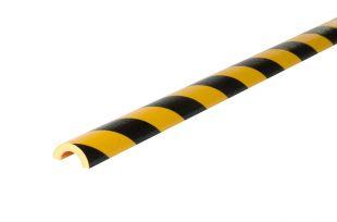 Elastyczny profil ochronny czarno - żółty typu R30