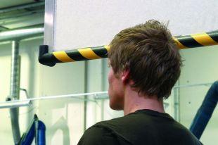 Elastyczny profil ochronny czarno - żółty typu R50