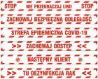 Epidemia - przeciwdziałanie pandemii - naklejka na podłogę 10x100cm