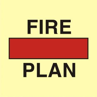 FA001 - Plan ochrony przeciwpożarowej w pojemniku - znak morski