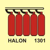 FA009 - Bateria butli halonu 1301 - znak morski - Stocznia – bezpieczeństwo i higiena pracy