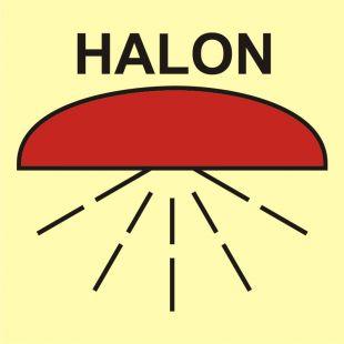 FA010 - Rejon chroniony przez instalację halonu 1301 - znak morski