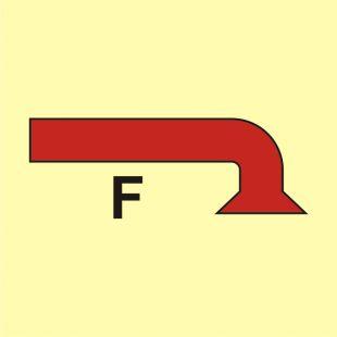 FA015 - Rejon chroniony przez instalację pianową - znak morski