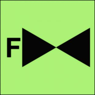 FA016 - Zawór odcinający na systemie instalacji gaśniczej pianowej - znak morski