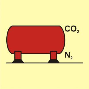 FA063 - Zbiornik instalacji CO2 / N2 - znak morski