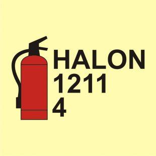 FA067 - Gaśnica halonowa 1211/4 - znak morski