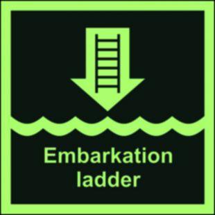 FB006 - Drabinka okrętowa lub inne zatwierdzone urządzenie - znak morski