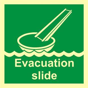 FB007 - System ewakuacji okrętowej (ślizg) - znak morski