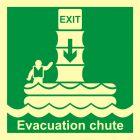 FB024 - System ewakuacji okrętowej (zsuwnia) - znak morski