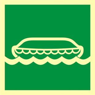 FB035 - Łódź ratunkowa - znak morski