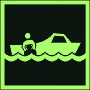 FB036 - Łódź ratownicza - znak morski