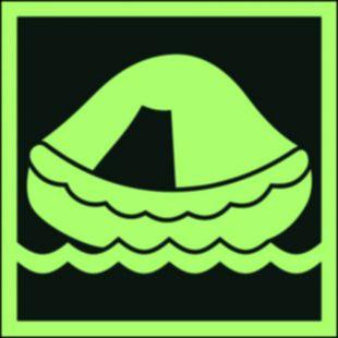FB037 - Tratwa ratunkowa - znak morski