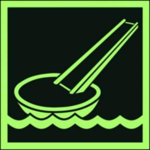 FB040 - System ewakuacji okrętowej (ślizg) - znak morski