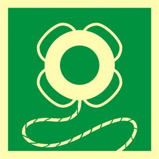 FB042 - Koło ratunkowe z linką - znak morski