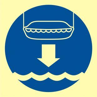 FC004 - Opuścić na wodę łódź ratunkową - znak morski