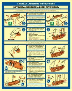 FD002 - Instrukcja wodowania łodzi ratunkowej - znak morski