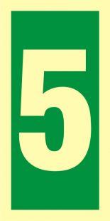 FE006 - Numer stacji ewakuacyjnych 5 - znak morski