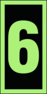FE007 - Numer stacji ewakuacyjnych 6 - znak morski