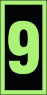 FE010 - Numer stacji ewakuacyjnych 9 - znak morski