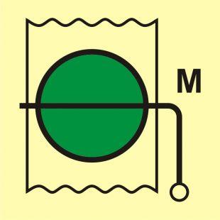 FI035 - Przepustnica przeciwpożarowa (obszar maszynowy) - znak morski