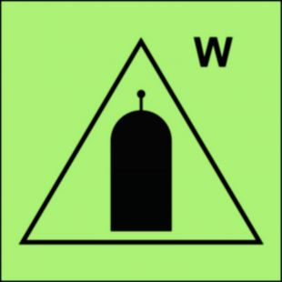 FI062 - Stanowisko zdalnego uwalniania (W-woda) - znak morski