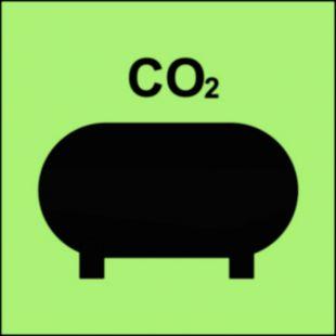 FI070 - Zamocowana instalacja gaśnicza (CO2-dwutlenek węgla) - znak morski