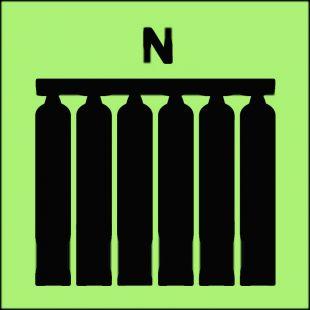 FI077 - Zamocowana bateria gaśnicza (N-azot) - znak morski