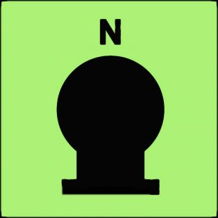 FI083 - Zamocowana butla gaśnicza umieszczona w zabezp. (N-azot) - znak morski