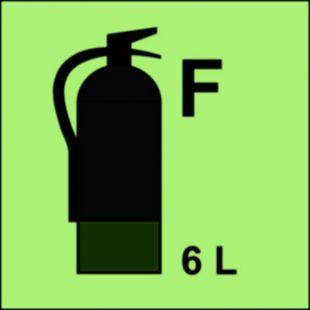 FI098 - Gaśnica (F-piana) 6L - znak morski